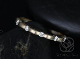 Rosados Box Ready to Ship Juno 14kt WHITE Gold Tension Bubble Diamond HALFWAY Eternity Band