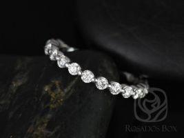 Rosados Box Medio Naomi / Medio Bubble & Breathe 14kt White Gold Diamonds ALMOST Eternity Band