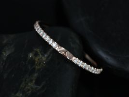 Rosados Box 14kt Matching Band to Eloise 10/9mm Size Diamonds ALMOST Eternity Band