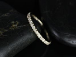 Rosados Box 14kt Yellow Gold Glitter Pave Almost Eternity Matching Band to Pernella/Chantelle