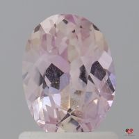 1.25cts Oval Light Peach Champagne Blush Sapphire