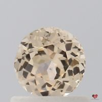 0.73cts Round Butter Peach Champagne Sapphire