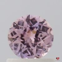 0.74cts Round Rustic Rose Champagne Sapphire