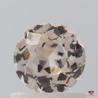 0.76cts Round Icy Peach Champagne Sapphire