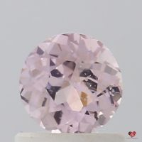 0.78cts Round Rose Blush Champagne Sapphire