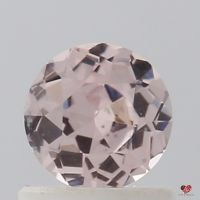 0.78cts Round Peach Rose Champagne Sapphire