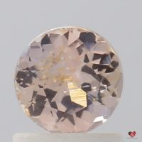 0.94cts Round Rose Peach Champagne Sapphire