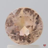 1.39cts Round Melon Sorbet Honey Sapphire