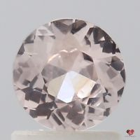 0.98cts Round Peachy Pink Champagne Sapphire
