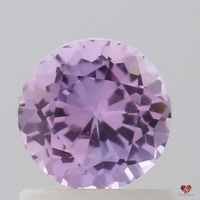 0.99cts Round Vibrant Rose Lavender Sapphire