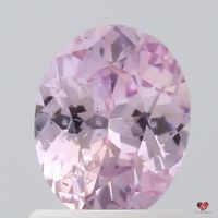 1.26cts Oval Blush Raspberry Champagne Sapphire