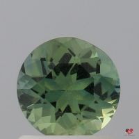 1.11cts Round Mossy Seafoam Teal Sapphire