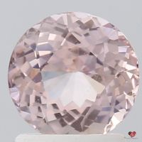 1.63cts Round Peachy Blush Champagne Sapphire