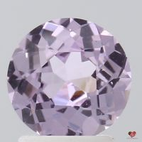 1.69cts Round Rose Champagne Lavender Sapphire