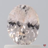 0.97cts Oval Icy Peach Champagne Sapphire