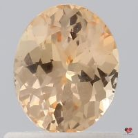0.92cts Oval Peach Champagne Sapphire