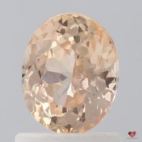 1.24cts Oval Melon Sorbet Champagne Sapphire