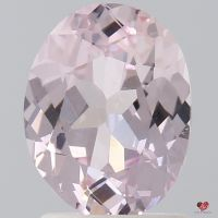 1.75cts Oval Peach Champagne Blush Sapphire