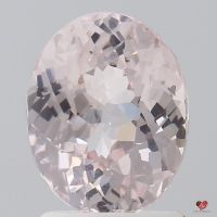 2.14cts Oval Blush Champagne Sapphire