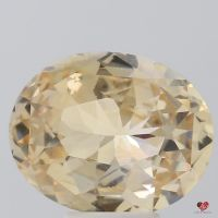 5.48cts Oval Peach Champagne Sapphire
