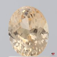1.29cts Oval Peach Champagne Blush Sapphire