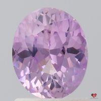 1.33cts Oval Blush Lavender Sapphire