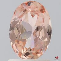 1.34cts Oval Peach Champagne Blush Sapphire
