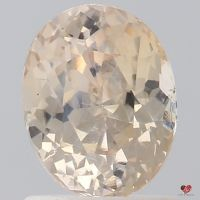 1.42cts Oval Peach Champagne Sapphire