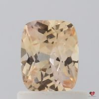 0.82cts Rectangle Cushion Medium Apricot Sorbet Champagne Sapphire
