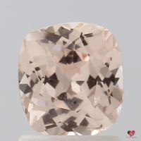 1.38cts Square Cushion Medium Peach Blush Champagne Sapphire