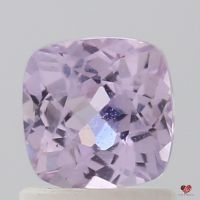 1.12cts Square Cushion Medium Lavender Rose Champagne Sapphire