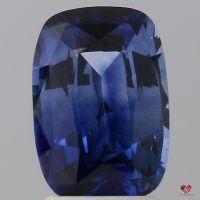 2.61cts Rectangle Cushion Ombre Cornflower Ceylon Blue Sapphire