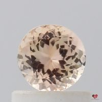 0.67cts Round Peachy Blush Champagne Sapphire
