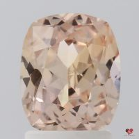 2.00cts Rectangle Cushion Medium Peach Blush Champagne Sapphire