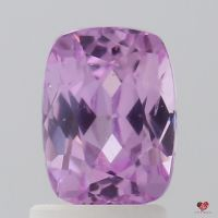 2.10cts Rectangle Cushion Rich Medium Rustic Rose Champagne Lavender Sapphire