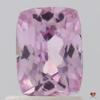 1.22cts Rectangle Cushion Rich Rose Peach Champagne Sapphire