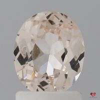 1.32cts Oval Faint Icy Peach Champagne Blush Sapphire