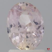 1.61cts Oval Light Peachy Blush Champagne Sapphire