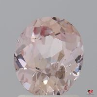1.54cts Oval Light Peachy Blush Champagne Sapphire