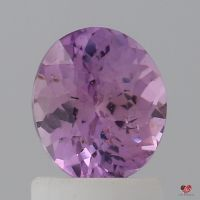1.35cts Oval Deep Rustic Rose Champagne Sapphire