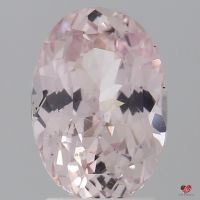 2.54cts Oval Light Peach Blush Champagne Sapphire