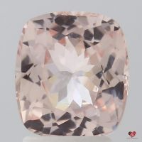 2.49cts Rectangle Cushion Light Peachy Pink Champagne Sapphire
