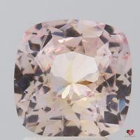 2.74cts Square Cushion Light Peachy Peachy Pink Honey Sapphire