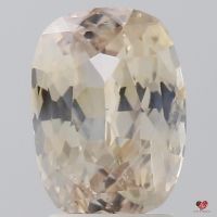 2.95cts Rectangle Cushion Light Peach Champagne Blush Sapphire