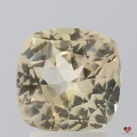 3.20cts Square Cushion Light Peach Champagne Sapphire