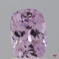 1.63cts Rectangle Cushion Medium Rose Lavender Champagne Sapphire