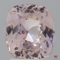 2.89cts Rectangle Cushion Medium Blush Champagne Peach Sapphire