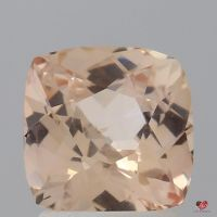 1.75cts Square Cushion Medium Sorbet Peach Champagne Blush Sapphire