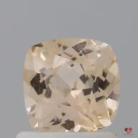 1.06cts Square Cushion Medium Sorbet Peach Champagne Sapphire