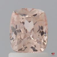 1.58cts Rectangle Cushion Medium Peach Blush Champagne Sapphire